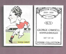 Middlesbrough George Camsell England 19 (FC)